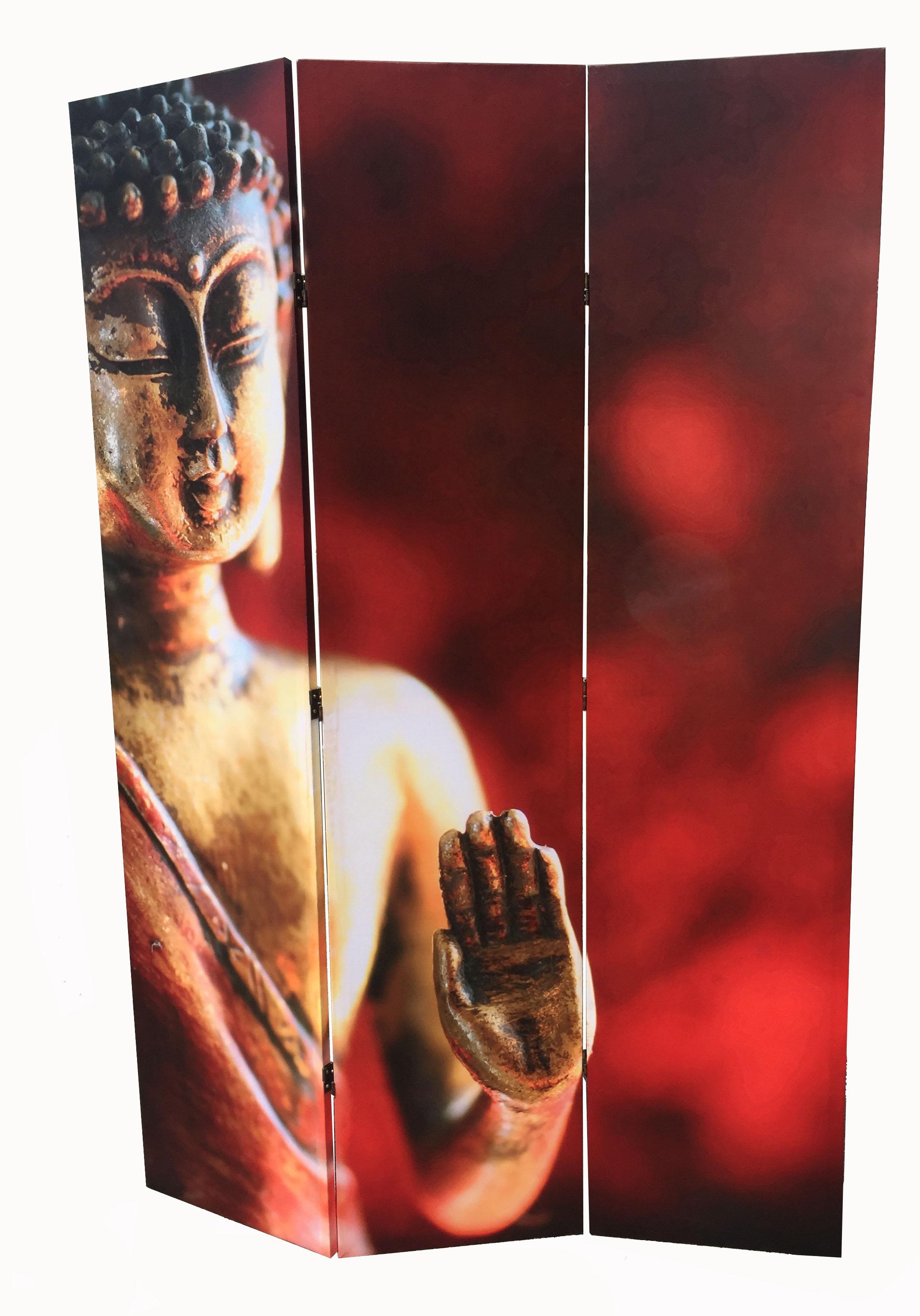 Buddha Screen Red